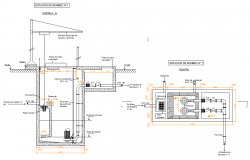 Sewage pumping station plan autoacd file