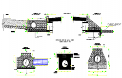 Sewer and dart constructive details dwg file