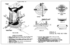 Sewer hole cover detail cad file
