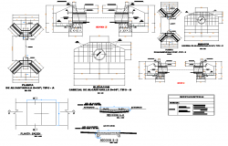 Sewer plan and section detail dwg file