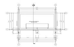 Shade structural detail CAD block 2d view layout file in autocad file