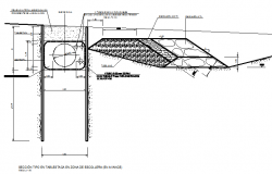 Sheet piling type section details