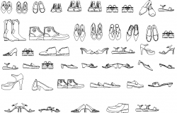 Shoes detail dwg file