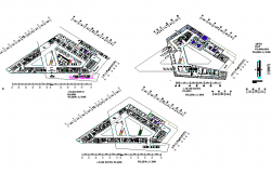 Shop and office building plan autocad file