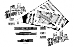 Shopping Center Architecture dwg file