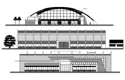 Shopping Mall Elevation Design DWG File