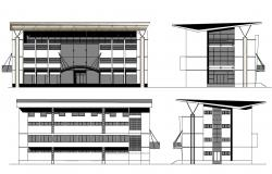 Shopping Mall Exterior Design CAD File
