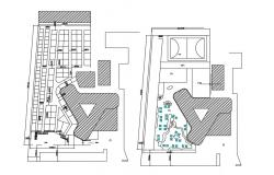 Shopping Mall and Club House CAD Drawing