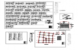 Shopping mall and hotel structural detail autocad file