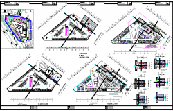 Shopping mall and office plan detail view dwg file
