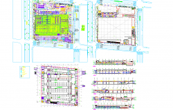 Shopping mall architecture drawing cad files