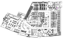 Shopping mall architecture layout plan cad drawing details dwg file