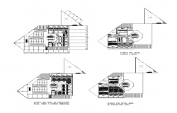 Shopping mall building detail plan 2d view dwg file