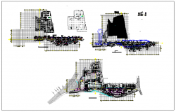 Shopping mall detail plan layout view dwg file