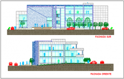 Shopping mall elevation details dwg files
