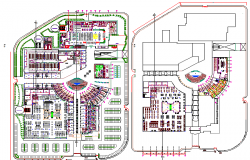 Shopping mall floor layout plan details dwg file