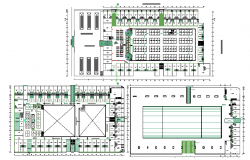 Shopping mall in bus terminal floor plan details dwg file