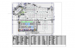 Shopping mall level plan detail dwg file.