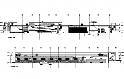 Shopping mall section E-E' detail and section F-F' detail dwg file