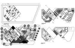Show Center Layout Plan DWG File