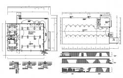 Show Room Plan project DWG File