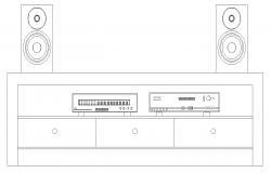 Showcase furniture detail elevation 2d view layout autocad file