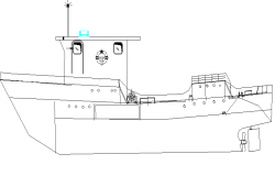 Showing ship detail dwg file