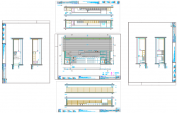 Showroom Layout plan with Elevation Design