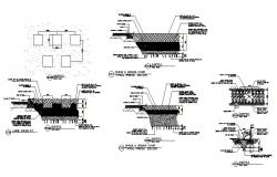 Shrub and ground cover landscaping structure details dwg file