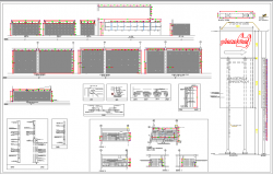 Shutter and shop construction details of super market dwg file