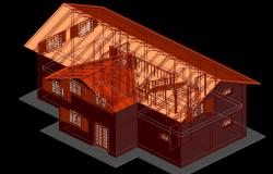 Side 3 D view detail dwg file