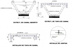 Side drain canal plan and section layout file
