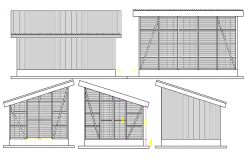 Side elevation details of corporate office dwg file