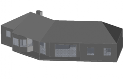 Side view 3 D house layout file