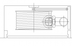 Side view of fire bottle cad design block dwg file