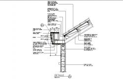 Side wall construction cad drawing details dwg file