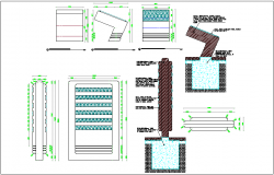 Signage view with furniture detail dwg file