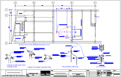 Silver finance corporate building lighting arr-ester grounding layout dwg file