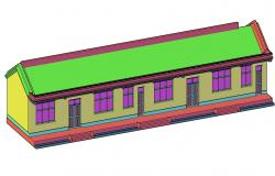 Simple 3d Of Building Elevation CAD File Free