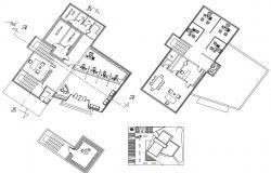 Simple Bank Floor Plan CAD Drawing