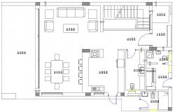 Simple One Bedroom House Plan CAD file