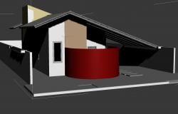 Simple housing room 3 d dwg file