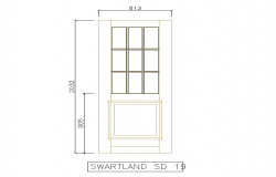 Single Door Elevation