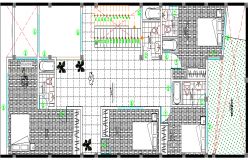 Single Family Dwelling House Architecture Layout, Section dwg file