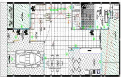 Single Family Dwelling House Architecture Layout dwg file