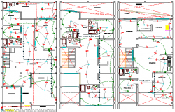 Single Family Dwelling House Electric Installation dwg file