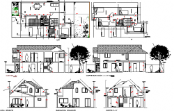 Single Family Housing Architecture Project dwg file