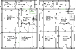 Single Family Housing Structure Details dwg file