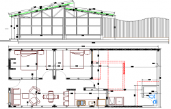 Single Family house Elevation and Structure Details dwg file