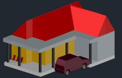 Single Storey 3D House Model